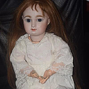 """Antique Doll Bisque French BeBe Jumeau """"M"""" Closed Mouth"""