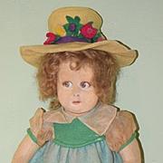 Old Lenci Cloth Felt Doll W/ Old Clothing Sweet!