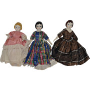 Doll China Heads Ruth Gibbs W/ Paper Labels