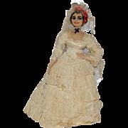 Vintage Doll Cloth Doll Wedding Lady Spanish Dancer