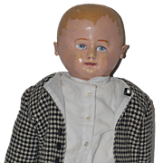 Old Doll Martha Chase Oil Cloth Painted Adorable