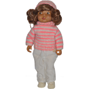Vintage Doll Artist OOAK Beckett Originals Wood Carved Doll ONLY 1