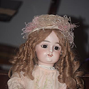 "Antique Doll Bisque French FG Gaultier Large Doll 26"" Tall"