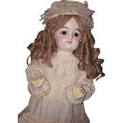 """Antique Doll Bisque French FG Gaultier Large Doll 26"""" Tall"""
