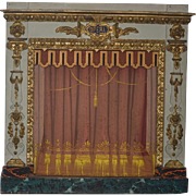 Antique French Doll Miniature Theater Theatre Display Dollhouse GORGEOUS Opera House Wood & Gilt