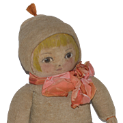 Old Doll Cloth Doll Rag Doll Painted Features Wonderful