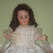 "Antique Doll Bisque Big 32"" 1362 ABG Beauty"