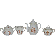 Old Kewpie Doll Tea Set Teaset Rose O'neill Porcelain