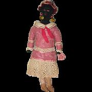 Old Doll Rag Doll Cloth Doll Folk Art Primitive Black Doll