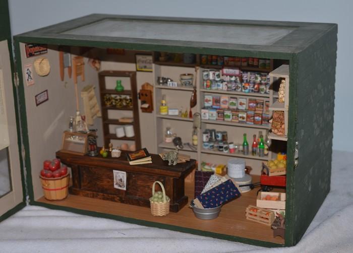 Wonderful Doll Miniature Dollhouse General Store Filled W