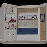 Wonderful Doll Miniature Dollhouse Doll Room Diorama W/ Dolls Miniatures
