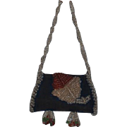 Wonderful Doll Beaded Purse For French Fashion Ornate