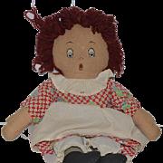 Old Doll Raggedy Ann Unusual Expression Cloth Doll Rag Doll