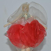 Vintage Doll Miniature Dollhouse Fairy Ballerina Fancy Cloth Doll
