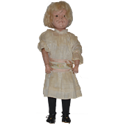 Antique Doll Schoenhut Wood Carved Doll Jointed Large Doll