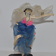 Old Doll Miniature Cloth Doll Ballerina Fancy Doll Lady