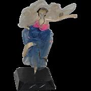 Old Doll Miniature Cloth Doll Ballerina Fancy Doll Lady