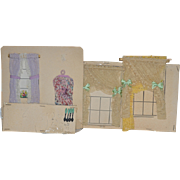 Old Doll Dollhouse Accessories For Dollhouse Window Treatments Utensils On Old Card Dolly Dear R.T. Kirkland