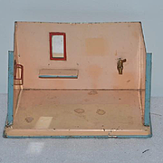 Old Doll Tin Miniature Bathroom Dollhouse Room Box Diorama
