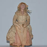 Old Doll Cloth & Terra-Cotta Folk Art Unusual