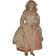 Old Doll Cloth & Terra-Cotta Folk Art Unusual