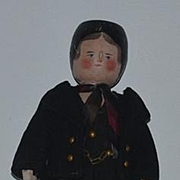 Old Doll Wood Pegged Jointed Carved Grodnertal