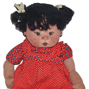 Wonderful Doll Cloth Carol Bowling Cloth Doll Stockinette NIADA Signed