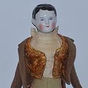 Antique Doll China Head Boy Doll Unusual Hair Style With Wispy WONDERFUL Kestner Kenderkopf