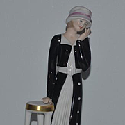 Goebel Figurine Lady Art Deco Porcelain