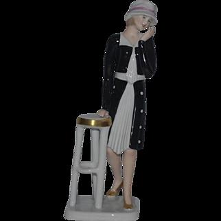 Goebel Figurine Lady Art Deco Porcelain