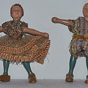 Antique Doll Schoenhut Wood Circus Dolls Carved Jointed Set of Dolls