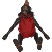 Old Doll Schoenhut Wood Carved Monkey Jointed Jester Clown