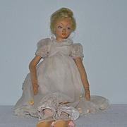 Old Doll Lenci Cloth Felt Salon Doll In Original Clothing