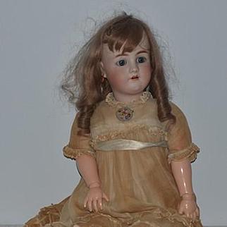 "Antique Doll Bisque Doll Huge Big Pretty Girl 31"" Tall Gorgeous Heinrich Handwerck Simon & Halbig French Wig"