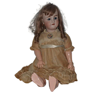 "Antique Doll Bisque Doll Huge Big Pretty Girl 31"" Tall Gorgeous Heinrich Handwerck Simon & Halbig French Wig"