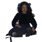 "Artist Doll Christine Orange Big Porcelain Girl Gorgeous 38"" Tall"