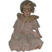 Antique Doll RARE Dora Petzold Cloth Doll Composition Papier Mache Stamped Body