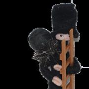 Vintage Anne Beate Designs Felt Cloth Doll Pixi Miniature w/ Original Tag and box: Pixie: