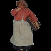 Vintage Doll Sculptured Head and Cloth Doll Peddlar Unusual Peddler