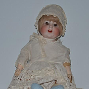 Antique Doll Big Bisque Baby K & K Toddler Sweet