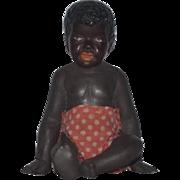 Vintage Doll Black Barefoot Miniature Sculpture Doll Wonderful