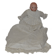 Antique Doll Bisque Head Solid Dome Baby Glass Eyes