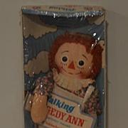 Vintage Doll Raggedy Ann Talking MINT IN BOX Cloth Doll Rag Doll Knickerbocker