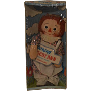 Vintage Doll Raggedy Ann Talking MINT IN BOX Cloth Doll Rag Doll Knickerbocker