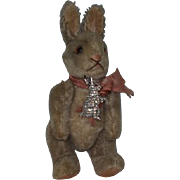 Old Doll Toy Miniature Mohair Rabbit Bunny Jointed Steiff