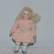 Antique Doll All Bisque Miniature Dollhouse Dressed