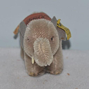 Vintage Steiff Miniature Elephant W/ Saddle and Button