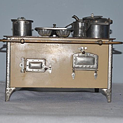 Antique Doll Miniature Stove Oven