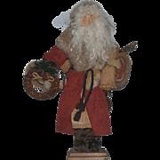 Vintage Doll JUDIE TASCH Santa Claus Folk Art Style Signed
