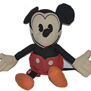 Vintage Mickey Mouse Cloth Doll